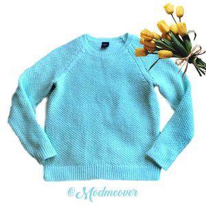 GAP Mint Green Long Sleeve Crew Neck Sweater